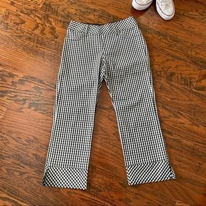 Equestrian Retro-Style Gingham Crops - Small
